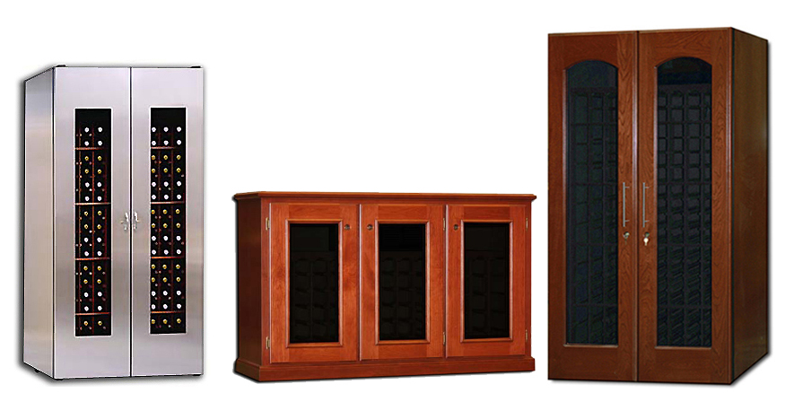Upright Credenza u0026 Walk-in wine rooms ...  sc 1 st  Wine Cabinets & Shop Wine Storage Cabinets for Sale | Wine Cellar Cabinets