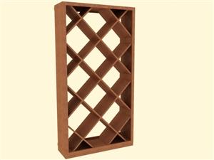 Prebuilt Provino Solid Diamond Bin Efficient Wine Rack Kit